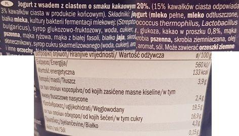 McEnnedy, jogurt Chocolate Muffin Flavour Lidl Tydzień Amerykański, skład i wartości odżywcze, copyright Olga Kublik