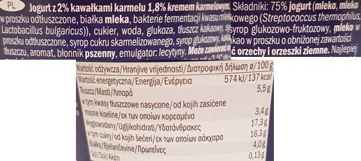 McEnnedy, jogurt with Caramel & Caramel Sprinkles Lidl, Tydzień Amerykański, skład i wartości odżywcze, copyright Olga Kublik