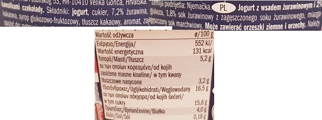 McEnnedy, jogurt with Cranberries Chocolate Sprinkles Lidl Tydzień Amerykański, skład i wartości odżywcze, copyright Olga Kublik