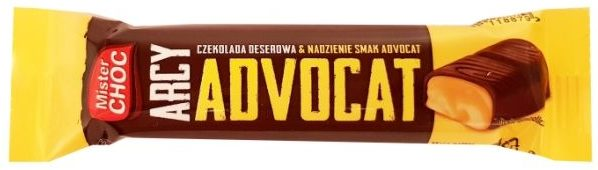 Mister Choc, Arcy Advocat z Lidla, baton czekoladowy z adwokatem, ciemna czekolada deserowa, copyright Olga Kublik