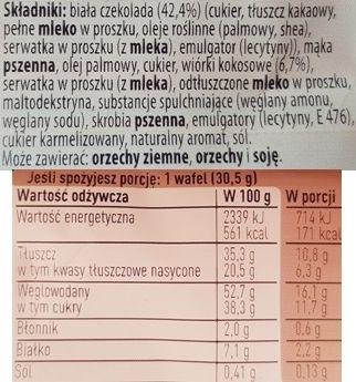 Nestle, Princessa Intense White Coconut, wafelek Princessa kokosowa intense, skład i wartości odżywcze, copyright Olga Kublik