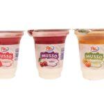 Pilos, jogurt Musso truskawka, wiśnia, brzoskwinia-marakuja, jogurty z Lidla, copyright Olga Kublik