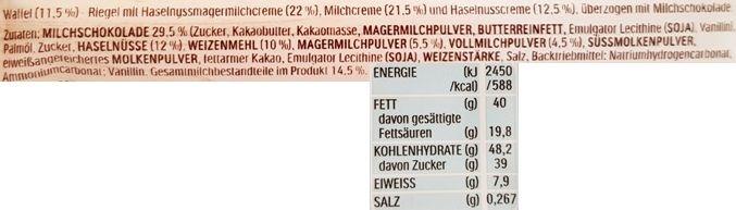 Ferrero, Hanuta Riegel Milch Nuss, Hanuta baton orzechowy, skład i wartości odżywcze, copyright Olga Kublik