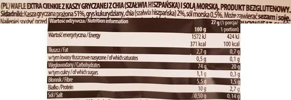 Good Food, Wafle gryczane Sól morska Chia nowa wersja, skład i wartości odżywcze, copyright Olga Kublik