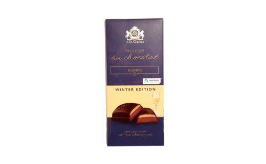 J.D. Gross, Mousse au chocolat Eggnog, czekolada z musem Lidl, copyright Olga Kublik
