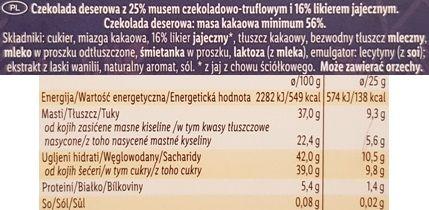 J.D. Gross, Mousse au chocolat Eggnog, czekolada z musem Lidl, skład i wartości odżywcze, copyright Olga Kublik