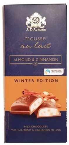 J.D. Gross, Mousse au lait Almond Cinnamon, czekolada z musem Lidl, copyright Olga Kublik