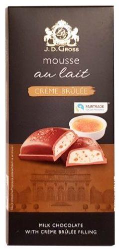 J.D. Gross, Mousse au lait Creme Brulee, czekolada z musem Lidl, copyright Olga Kublik