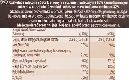 J.D. Gross, Mousse au lait Creme Brulee, czekolada z musem Lidl, skład i wartości odżywcze, copyright Olga Kublik