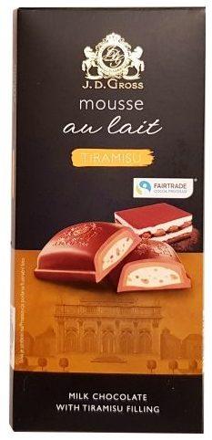 J.D. Gross, Mousse au lait Tiramisu, czekolada z musem Lidl, copyright Olga Kublik