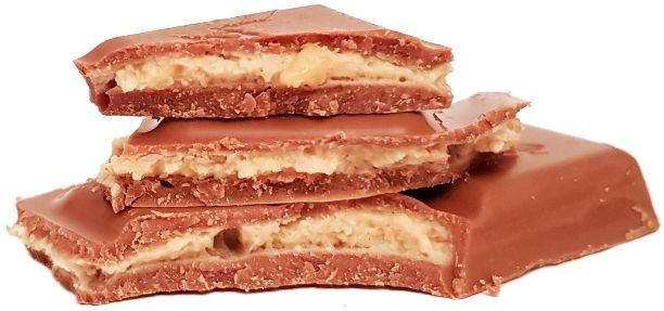 Milka, Almond Crispy Creme, mleczna czekolada nadziewana migdałowa, copyright Olga Kublik