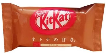 Nestle, japoński Kit Kat Hojicha Roasted Green Tea, Kit Kat prażona zielona herbata, copyright Olga Kublik