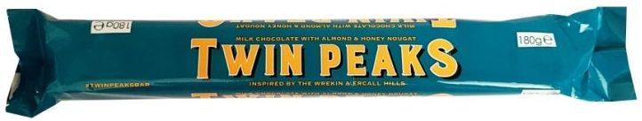Poundland, Twin Peaks Chocolate with Almond Honey Nougat, Toblerone, copyright Olga Kublik