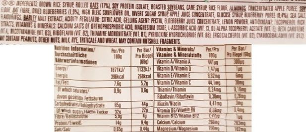 Clif Bar, Energy Bar Blueberry Crisp, wegański baton owsiany z jagodami i migdałami, skład i wartości odżywcze, copyright Olga Kublik