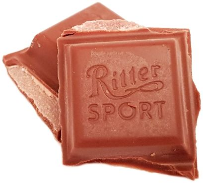 Ritter Sport, Erdbeer Mousse, mleczna czekolada z musem truskawkowym, copyright Olga Kublik