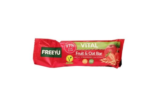 FeeYu, baton owocowy Vital Fruit Oat Bar Apple, Strawberry, Oat Flakes, copyright Olga Kublik