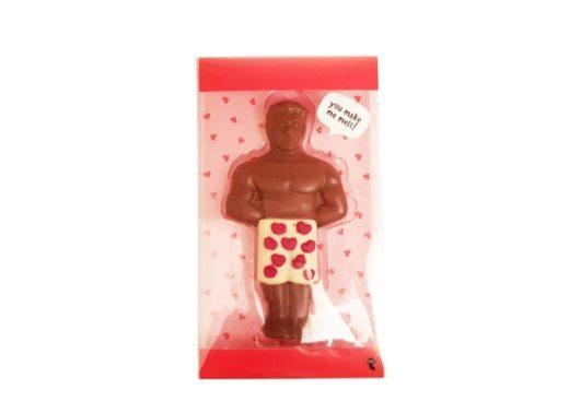 Flying Tiger, figurki z czekolady czekoladowy mężczyzna, copyright Olga Kublik