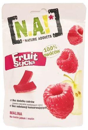 Nature Innovation, N.A! Fruit Sticks Malina, zdrowe żelki wegańskie, copyright Olga Kublik