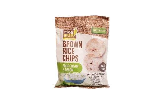 Nuhealth, Rice Up Brown Rice Chips Sour Cream & Onion, zdrowe chrupki fromage, copyright Olga Kublik