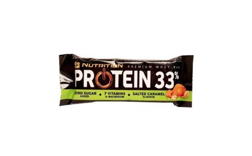 Sante, Go On Nutrition Protein Bar 33 Salted Caramel, baton proteinowy słony karmel, copyright Olga Kublik