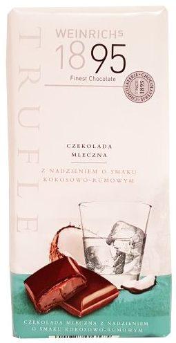 Weinrich Schokolade, Weinrich's 1895 Trufle czekolada mleczna Kokos-Rum Lidl, copyright Olga Kublik