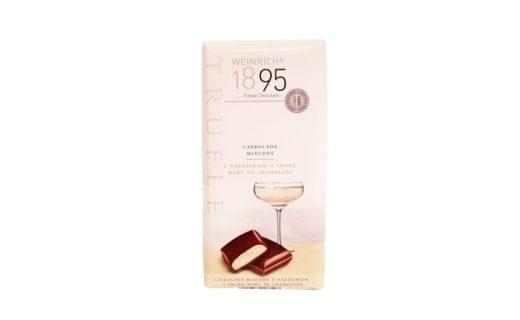 Weinrich Schokolade, Weinrich's 1895 Trufle czekolada mleczna Marc de Champagne Lidl, copyright Olga Kublik