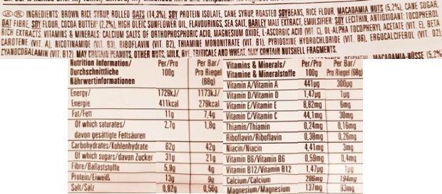 Clif Bar, Energy Bar White Chocolate Macadamia Nut, baton owsiany z białą czekoladą i orzechami makadamia, skład i wartości odżywcze, copyright Olga Kublik