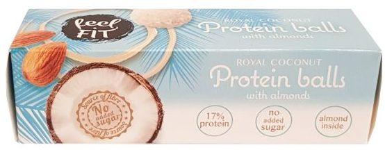 Newtrition, Feel Fit Royal Coconut Protein Balls with almonds, kokosowe praliny proteinowe, copyright Olga Kublik