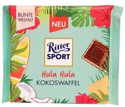 Ritter Sport, Hula Hula Kokoswaffel, mleczna czekolada kokosowa z waflem, copyright Olga Kublik