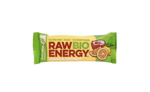 Bombus Natural Energy, Raw Bio Energy Lemon & Coconut, zdrowy surowy baton wegański z daktyli, copyright Olga Kublik
