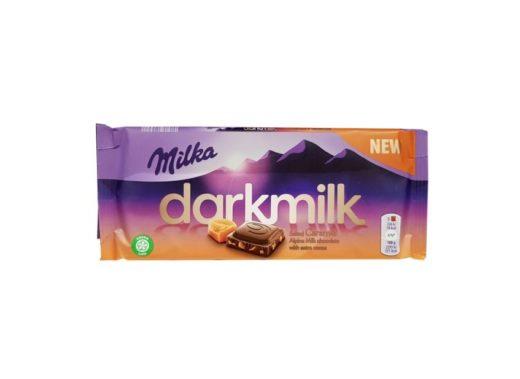 Milka, Darkmilk Salted Caramel, mleczna czekolada ze słonym karmelem, copyright Olga Kublik