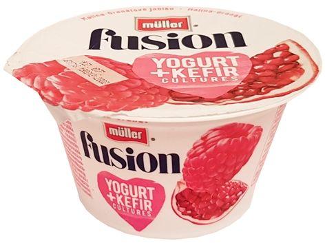 Muller, Fusion Yogurt Kefir Malina-Granat, copyright Olga Kublik