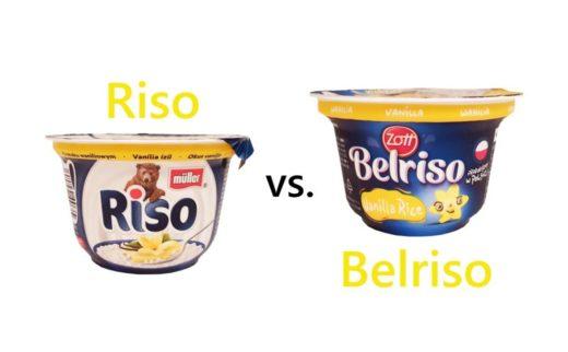 Porównanie ryżu na mleku: Muller Riso waniliowe vs. Zott Belriso waniliowe