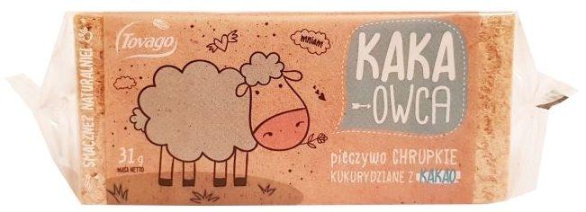 Tovago, Kaka-Owca pieczywo chrupkie kukurydziane z kakao, copyright Olga Kublik