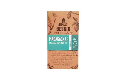 Beskid Chocolate, Madagaskar Ambanja Superior Bio DarkMilk 50%, ekologiczna czekolada mleczna o podwyższonej zawartości kakao,copyright Olga Kublik