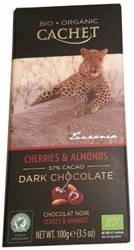 Cachet, Bio Organic Dark Chocolate 57% cacao Cherries Almnods, ciemna czekolada ekologiczna z wiśniami i migdałami, copyright Olga Kublik