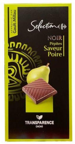 Carrefour, Selection Noir Pepites Saveur Poire ciemna czekolada gruszkowa, copyright Olga Kublik