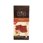 Chocolats Halba, Fairtrade Bio czekolada 47% kakao z orzechami laskowymi, ekologiczna czekolada orzechowa, copyright Olga Kublik