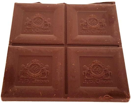 J.D. Gross, Czekolada gorzka Ekwador 95% cacao, czekolada 95% kakao z Lidla, copyright Olga Kublik