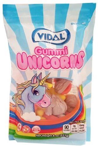 Vidal Golosinas, Gummi Unicorns żelki jednorozce, copyright Olga Kublik