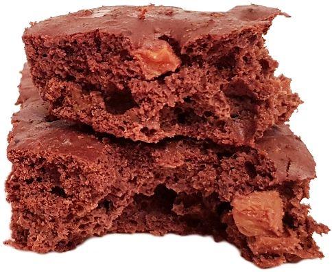 Catering na diecie, Brownie gryczano-fasolowe z brzoskwinia, copyright Olga Kublik