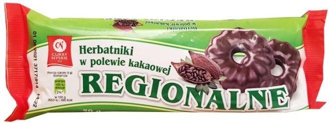 Cukry Nyskie, Herbatniki Regionalne w polewie kakaowej, copyright Olga Kublik