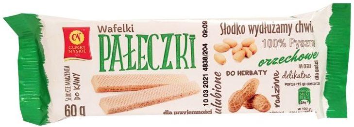 Cukry Nyskie, Wafelki Pałeczki orzechowe, copyright Olga Kublik