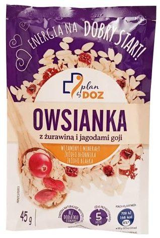 DOZ, Plan by DOZ Owsianka z żurawiną i jagodami goji, copyright Olga Kublik