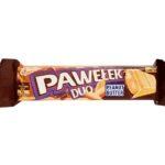 Wedel, Pawełek Duo Peanut Butter, wedlowski baton z czekoladą białą karmelową i czekoladą deserową z masłem orzechowym, copyright Olga Kublik