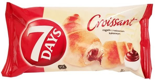 Chipita, 7 Days Croissant rogalik z nadzieniem kakaowym, copyright Olga Kublik