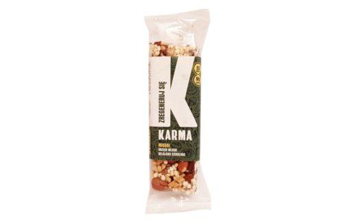 Karma Bars, Karma Migdał Zregeneruj się, zdrowy twardy baton migdałowy, copyright Olga Kublik