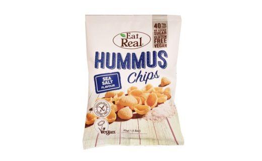 Eat Real, Hummus Chips Sea Salt Flavour wegańskie chrupki z ciecierzycy, copyright Olga Kublik