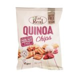 Eat Real, Quinoa Chips Sundried Tomato & Roasted Garlic Flavour wegańskie chrupki z quinoa, copyright Olga Kublik