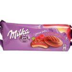 Milka, Choco Jaffa Raspberry Jelly, biszkopty z galaretką malinową w czekoladzie mlecznej, copyright Olga Kublik